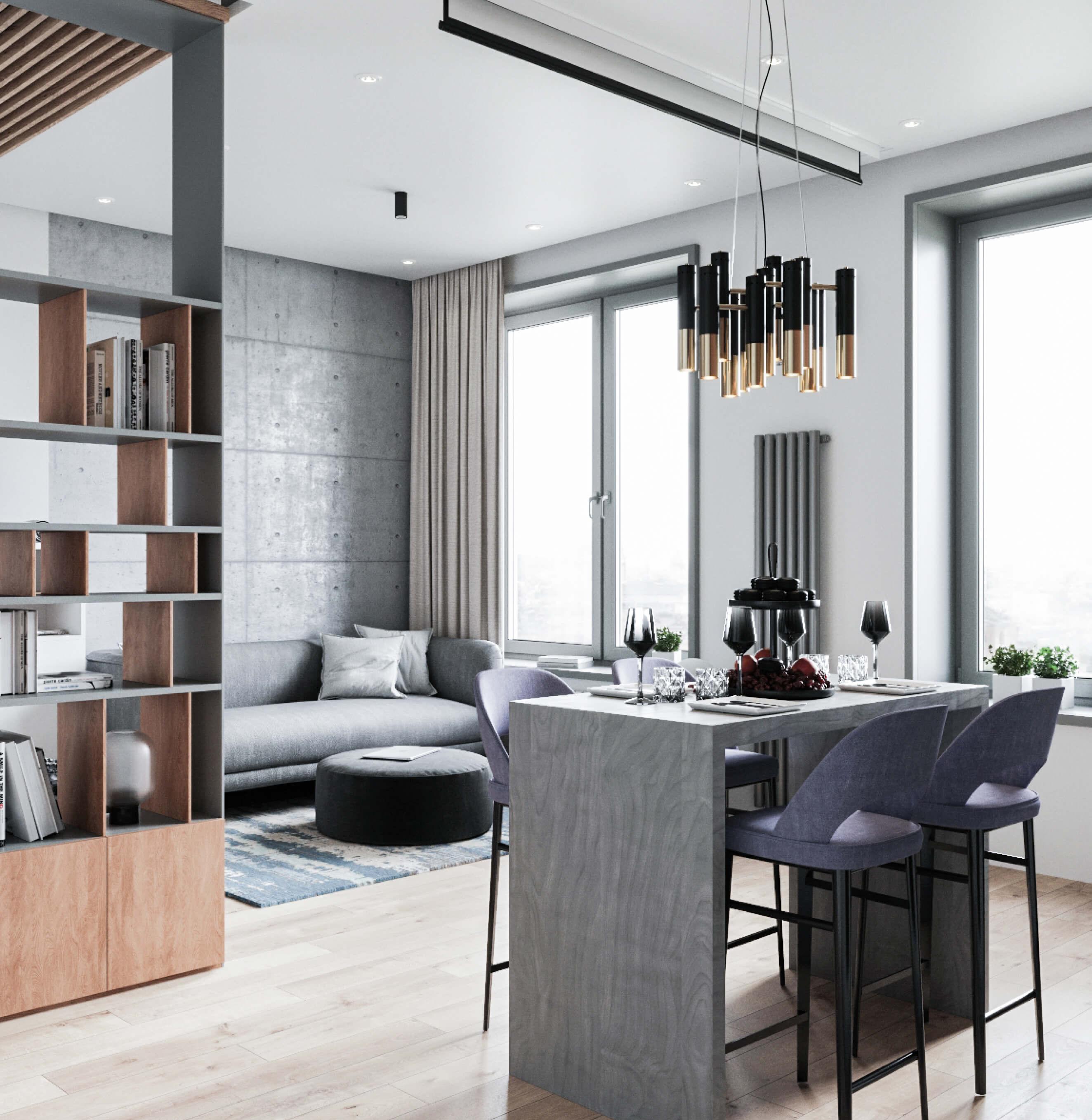 Современный интерьер апартаментов