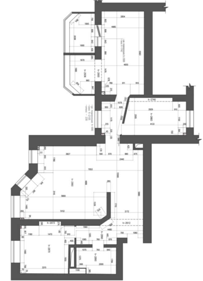 Проекция квартиры - Разработка дизайна интерьера на заказ
