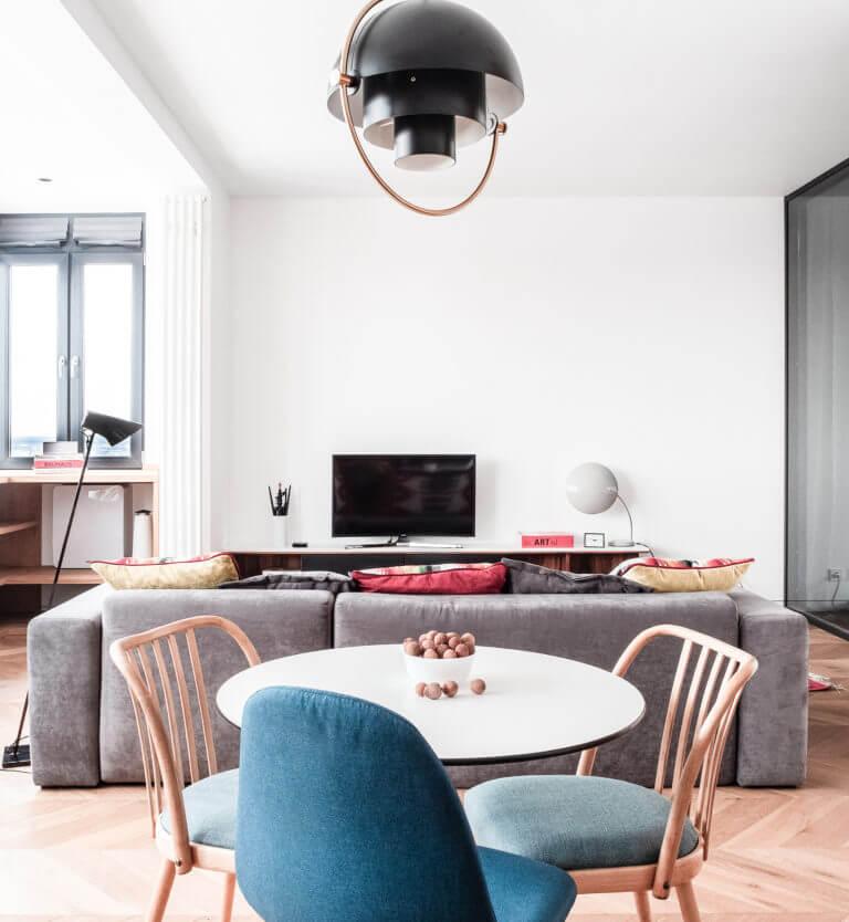 Студия в квартире на Рублевском шоссе - Заказать дизайн интерьера