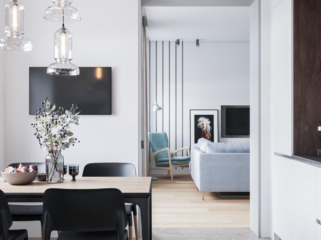 Студия в квартире на Юбилейной - Заказать дизайн проект интерьера в студии