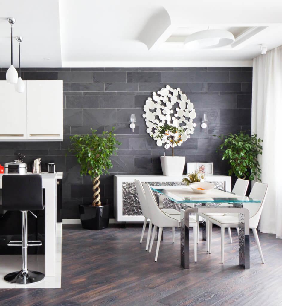 Столовая в квартире ЖК «Миракс Парк» - Заказать дизайн проект интерьера в студии