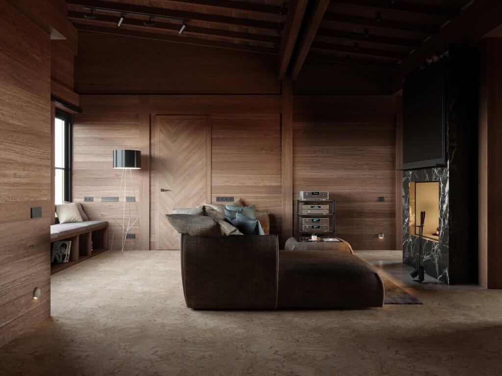 Современный интерьер одноэтажного дома