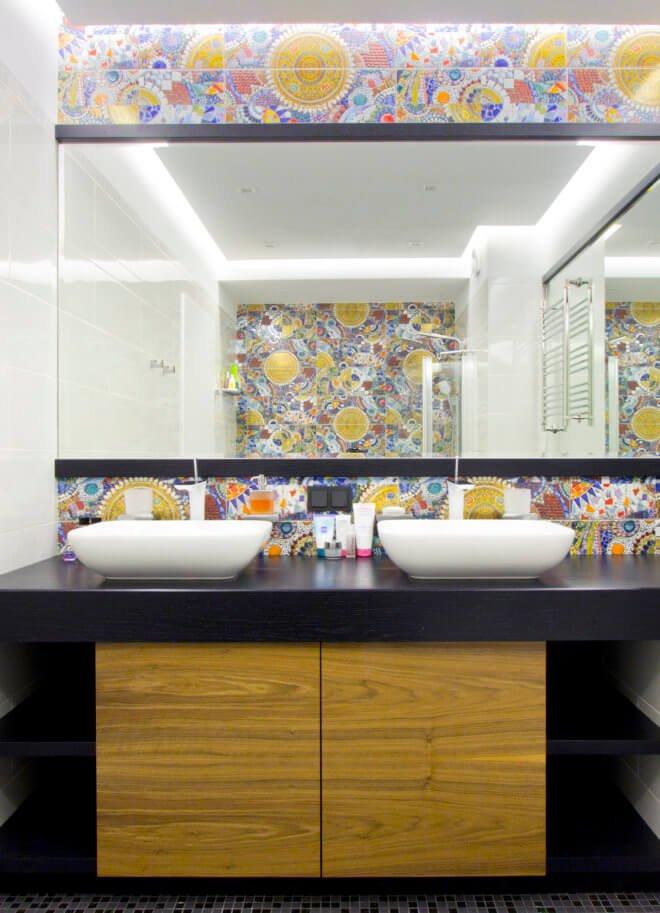 Дизайн интерьера ванной комнаты в квартире премиум класса