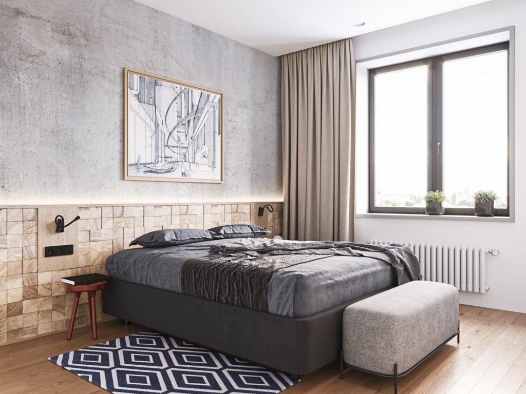 Дизайн интерьера спальни авторский
