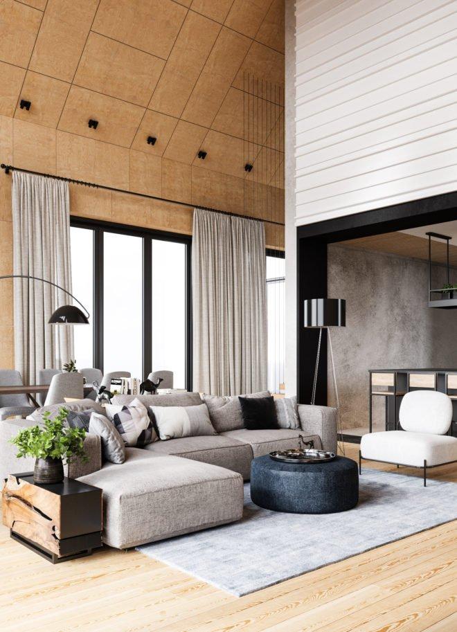 Дизайн интерьера загородного дома премиум класса