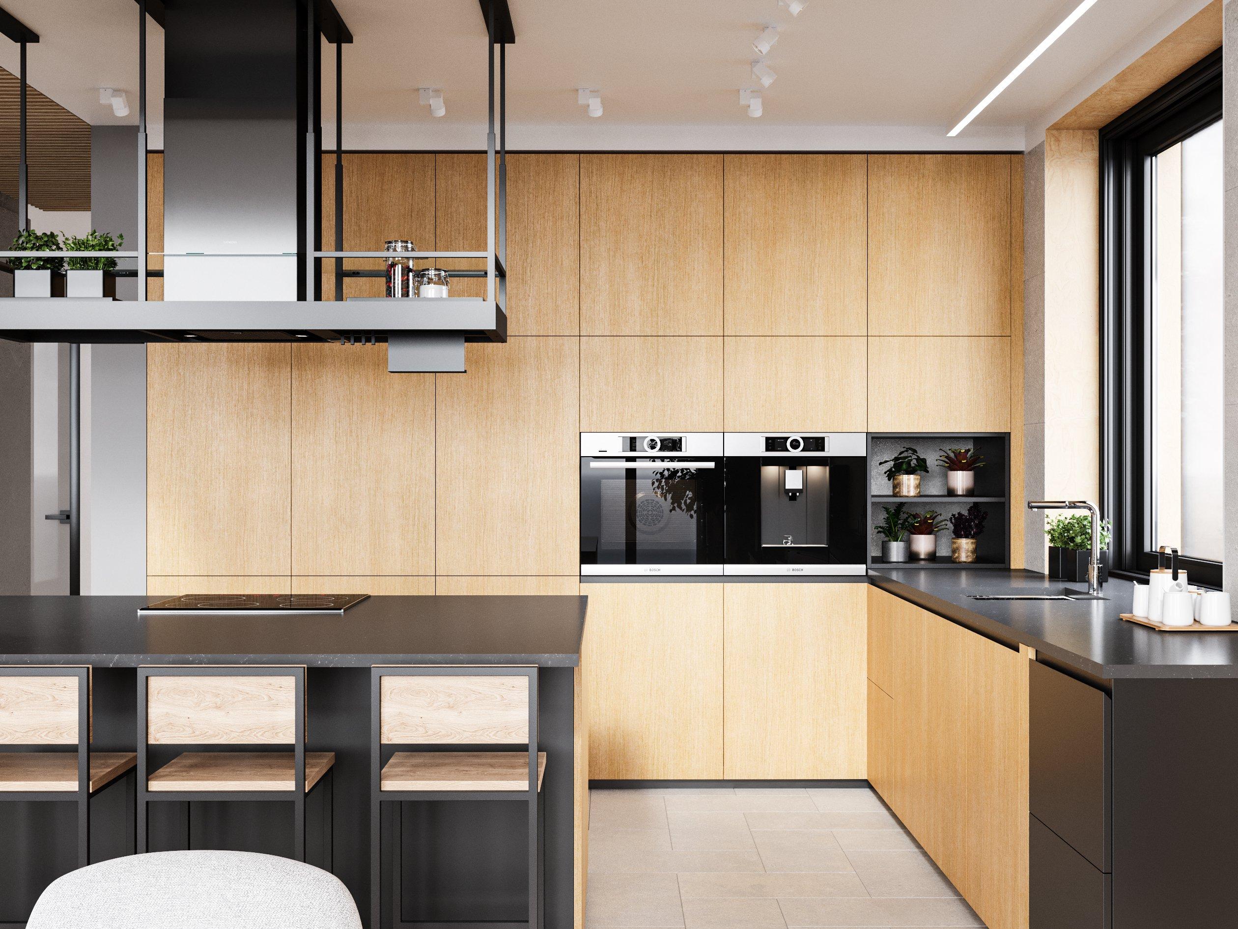 Кухня в дизайне интерьера загородного дома