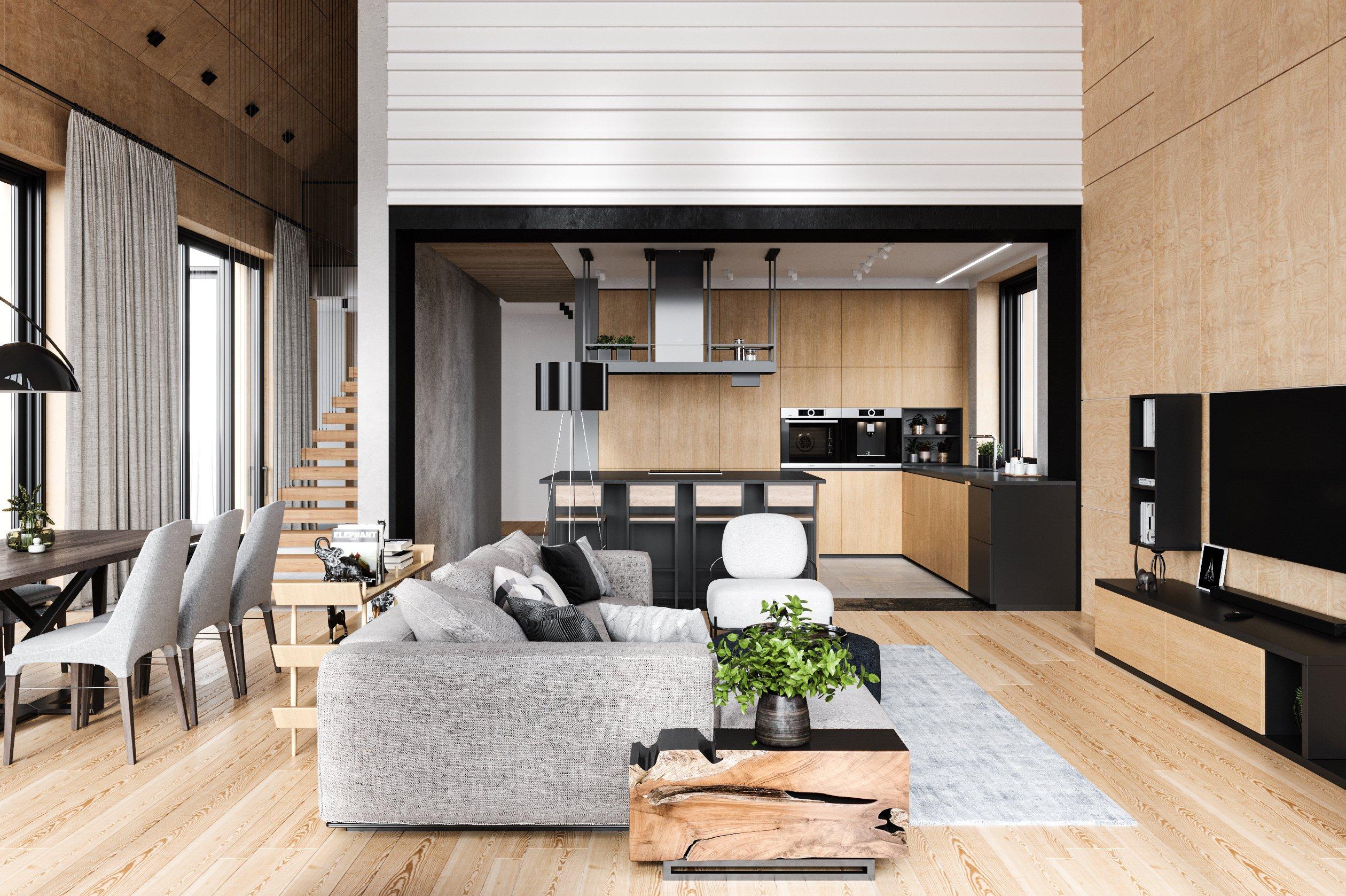 Премиум дизайн интерьера загородного дома