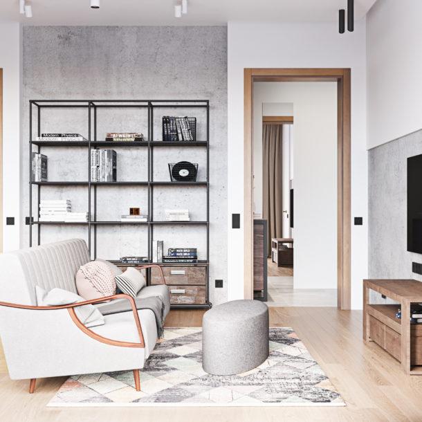 Дизайн интерьера гостиной авторский