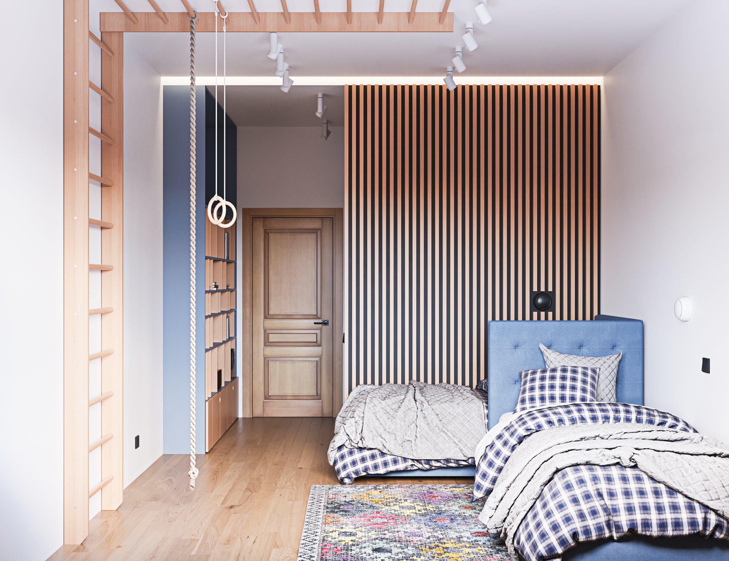 Авторский дизайн интерьера детской комнаты