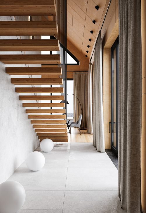 Авторский дизайн интерьера загородного дома